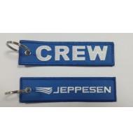 Crew embroidered keychain