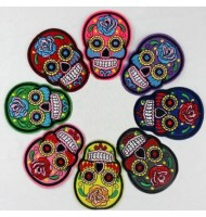 Colorful Skull embroidered badges