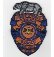 Rescue wolf embroidered badge