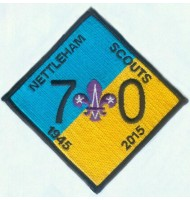 Nettleham scouts embroidered badge