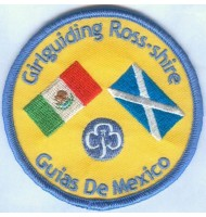 Guiding Ross-shire embroidered badge