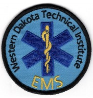 Emergency department embroidered badge