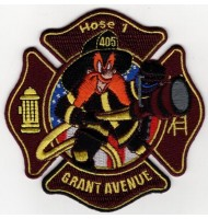 Grant Avenue embroidered badge