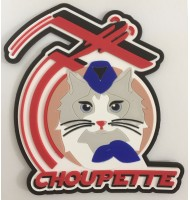 3D rubber badge