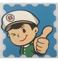 PVC police badge