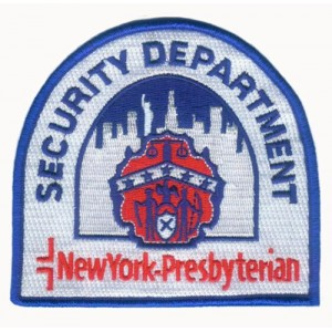 Security department embroidered badge