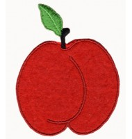 Apple embroidered badge