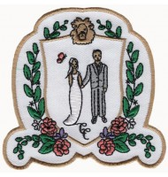 Celebrate wedding embroidered badge