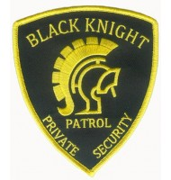 Private security embroidered badge