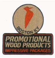 Promotional embroidered badge for Boston city