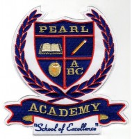 School clothing embroidered badges