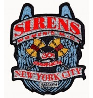 Iron on embroidered badges for NY city