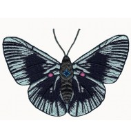 Butterfly iron on embroidered badge
