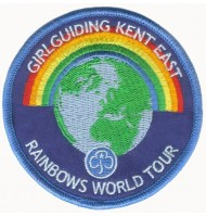 Rainbows Girl guiding embroidered badges