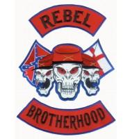 Brotherhood motorcycle embroidered badges