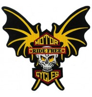Ride-free motorcycle embroidered badges