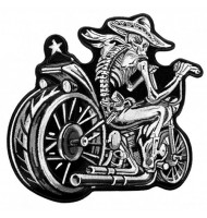 Motorcycle custom embroidered badges