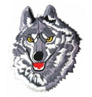 Wolf embroidered badge