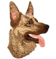embroidered dog badge