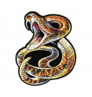 embroidered snake badge