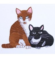 Cat embroidered badges