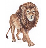 Strong embroidered badge of Lion