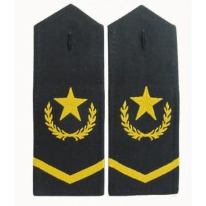 Military garment embroidered epaulets
