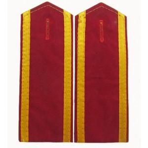 Garment embroidered epaulet
