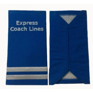 Express coach lines embroidered epaulet