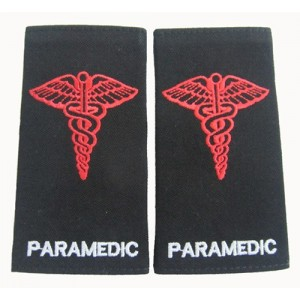 PARAMEDIC embroidered epaulet