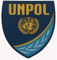 Rubber police badge